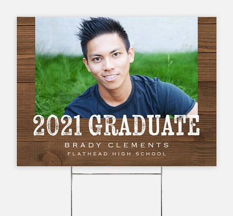 Natural Grad Graduation Yard Signs