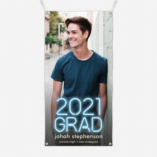 Neon Grad Graduation Banners