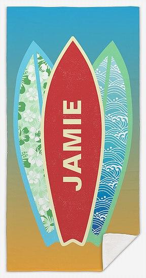 Sunset Surfer Custom Beach Towels