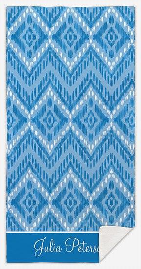 Elegant Ikat Custom Beach Towels