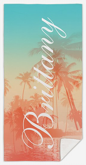 Tropical Silhouette  Custom Beach Towels