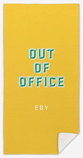 Out of Office Custom Beach Towels