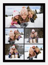 Personalized Photo Cards - Onyx Five Frame