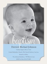 Baptism Blessing Blue
