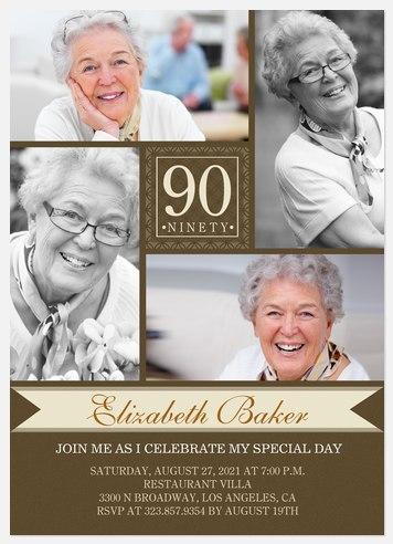 Her Way Birthday Adult Birthday Invitations