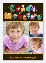 halloween photo cards - Candy Monsters
