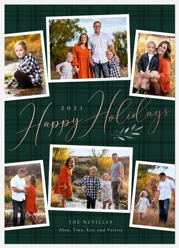 Tartan Elegance Holiday Photo Cards