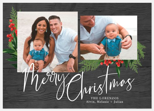 Festive Trimmings Holiday Photo Cards