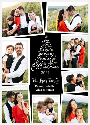 Scripted Pine Holiday Photo Cards