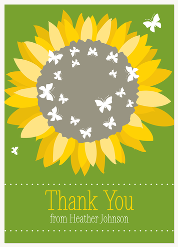 Thank You Cards for Women, Sunflower Burst Design