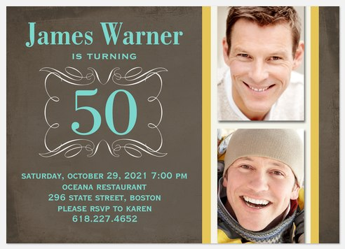 Prime of Life Adult Birthday Invitations