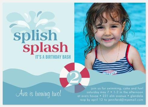splash Kids' Birthday Invitations