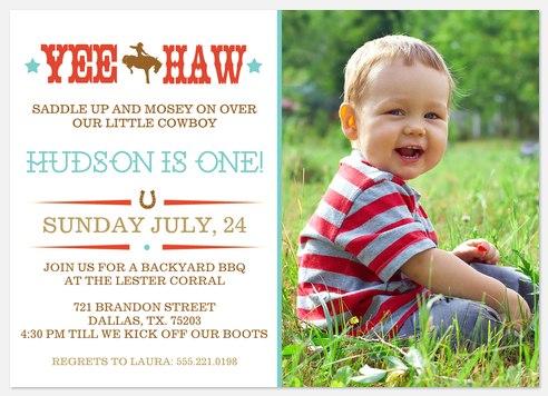 Saddle Up Sweetie Kids' Birthday Invitations