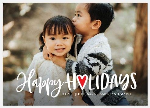 Heartfelt Greeting Holiday Photo Cards