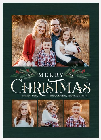 Pine & Berries Holiday Photo Cards