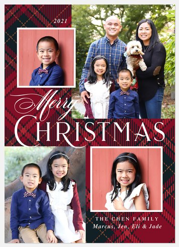 Flannel Traditions Holiday Photo Cards