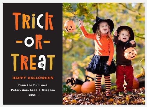 Autumn Treats Halloween Photo Cards