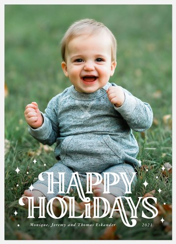 Bold Twinkle Holiday Photo Cards