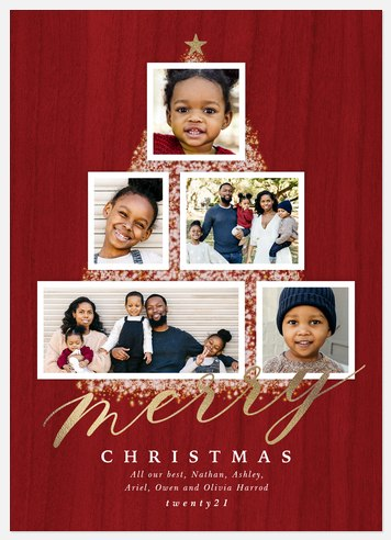 Tree Chic Holiday Photo Cards