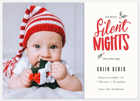 Silent No More Holiday Photo Cards