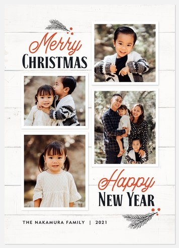 Farmhouse Collage Holiday Photo Cards
