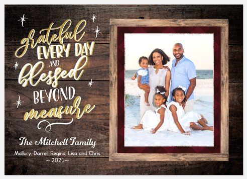 Beyond Measure Holiday Photo Cards