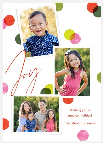 Joyful Confetti Holiday Photo Cards