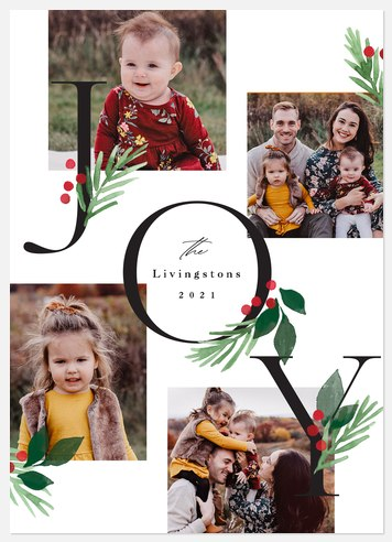 Ode to Joy Holiday Photo Cards