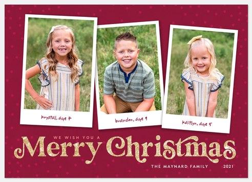 Retro Memories Holiday Photo Cards