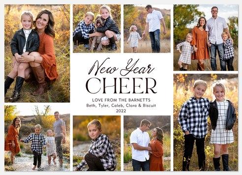 Minimal New Year Holiday Photo Cards