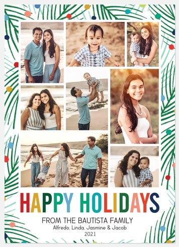 Pine Mosaic Holiday Photo Cards