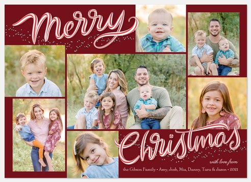 Peppermint Print Holiday Photo Cards