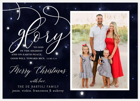 Midnight Glory Holiday Photo Cards