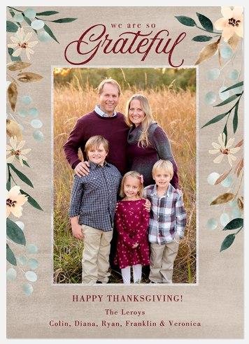 Grateful Thanksgiving Cards