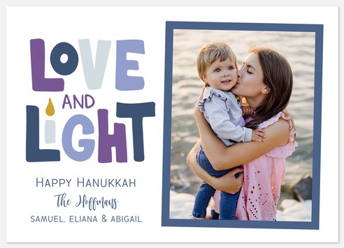 Love and Light Hanukkah Photo Cards