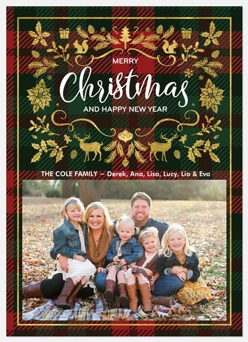 Traditional Elements Holiday Photo Cards