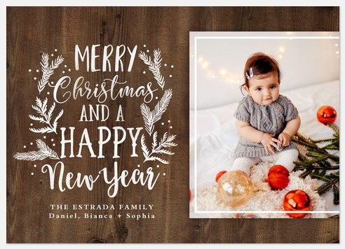 Woodland Greeting Holiday Photo Cards