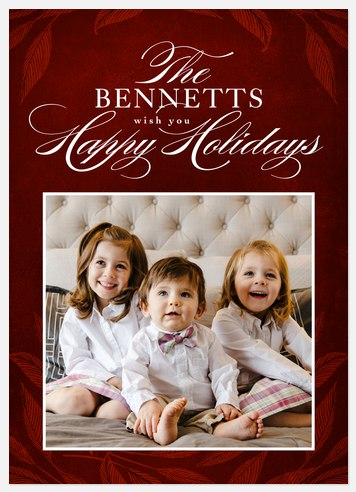 Luxe Traditions Holiday Photo Cards