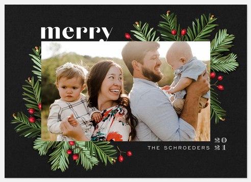 Balsam Fir Holiday Photo Cards