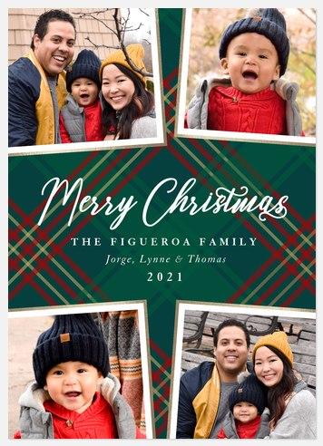 Plaid Scrapbook Holiday Photo Cards