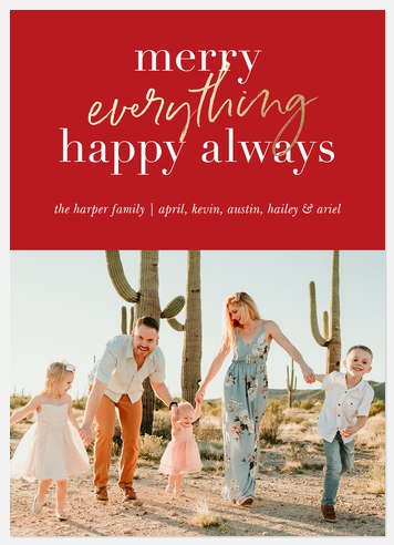 Happy Always Holiday Photo Cards