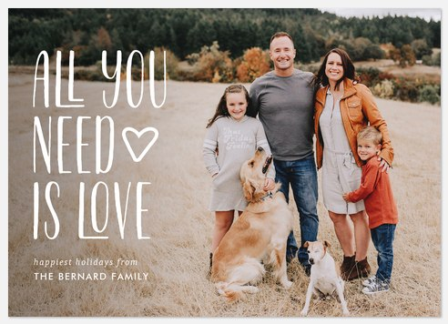 Love Sentiment Holiday Photo Cards