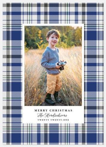 Indigo Flannel Holiday Photo Cards