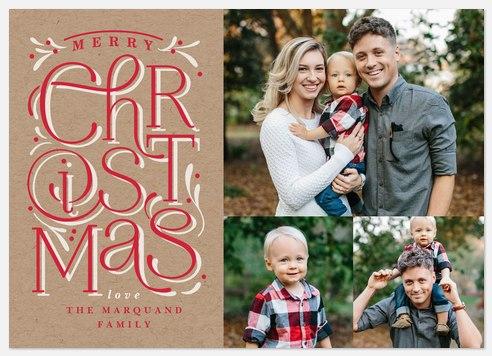Whimsical Christmas Holiday Photo Cards