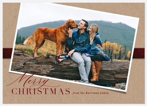 Velvet & Kraft Holiday Photo Cards