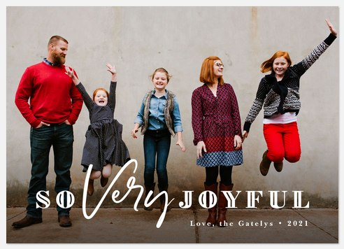 So Very Joyful Holiday Photo Cards