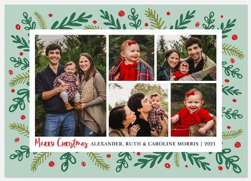 Festive Boughs Holiday Photo Cards