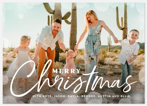 Bokeh Shimmer Holiday Photo Cards