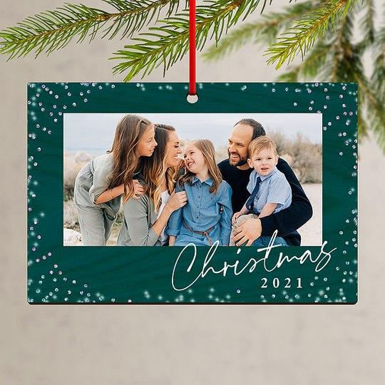 Christmas Glitter Custom Ornaments