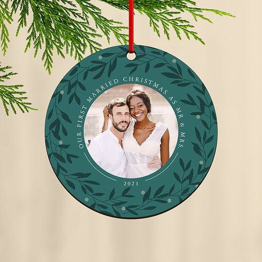 Married and Merry Custom Ornaments